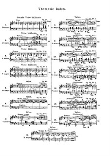 Selected Waltzes: No.1-15 by Frédéric Chopin