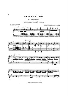Song with Choir: For piano by Felix Mendelssohn-Bartholdy