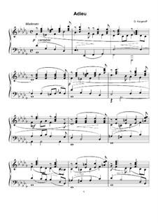 Adieu, Op.20: No.1 Adieu by Genari Karganoff