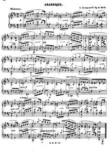 Arabesques for Piano, Op.6: Arabesque No.11 by Genari Karganoff