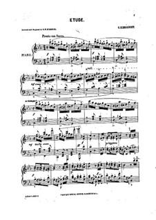 Etude for Piano in C Minor: Etude for Piano in C Minor by Genari Karganoff