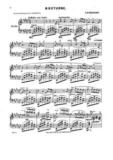 Nocturne in F Sharp Major: Nocturne in F Sharp Major by Genari Karganoff