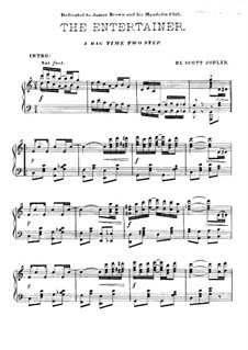The Entertainer, for Piano: For a single performer by Scott Joplin