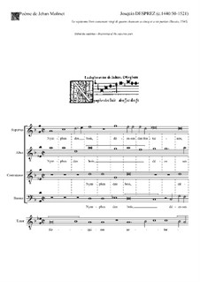 Nymphes des Bois: Vocal score by Josquin des Prez