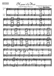 Hymne á la Nuit: Vocal score by Jean-Philippe Rameau