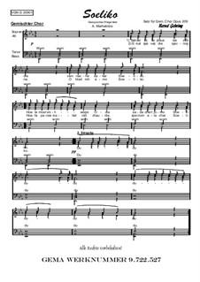 Soeliko: Für gemischten Chor, Op.209 Nr.1 by folklore