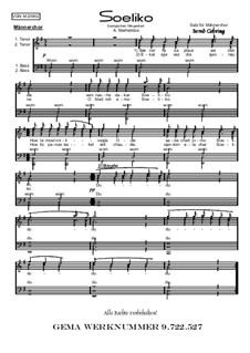 Soeliko: Für Männerchor, Op.209 Nr.2 by folklore