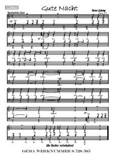 Gute Nacht, Op.177: Gute Nacht by Bernd Gehring
