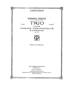 Piano Trio in C Minor, Op.45: Full score, parts by Gabriel Pierné