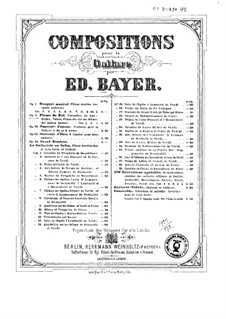 Fleurs du bal. Pieces on Themes from Italian Operas, Op.2: Book I by Eduard Bayer