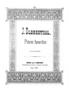 Selected Pieces for Piano: Selected Pieces for Piano by Jacques Blumenthal