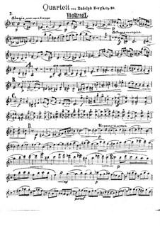 String Quartet, Op.10: String Quartet by Rudolph Sophus Bergh