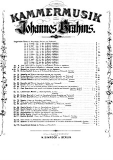 String Quartet No.1 in C Minor, Op.51: Parts by Johannes Brahms