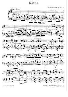 Six Etudes for Piano, BV 203 Op.16: Complete set by Ferruccio Busoni