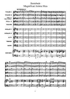 Magnificat anima mea, BuxWV Anh.1: Magnificat anima mea by Dietrich Buxtehude
