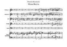 Missa Brevis, BuxWV 114: Full score by Dietrich Buxtehude