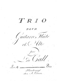 Trio for Guitar, Flute and Viola: Flute part by Leonhard von Call