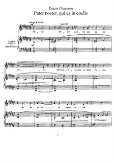 Three Songs: Three Songs by Ernest Chausson