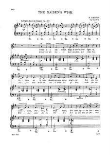 Seventeen Polish Songs, Op.74: No.1 Życzenie (The Wish) by Frédéric Chopin