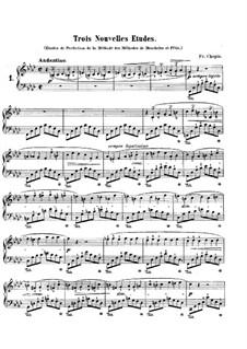 Trois nouvelles études, B.130 KK IIb/3: Complete set by Frédéric Chopin