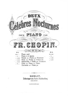 Nocturnes, Op.32: No.1, for violin and piano by Frédéric Chopin