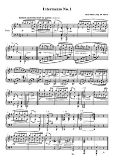 Intermezzi for Piano, Op.94: Intermezzo No.1 in E Minor by Hans Huber