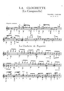 Concerto for Violin and Orchestra No.2 in B Minor, Op.7: La Campanella, for guitar by Niccolò Paganini
