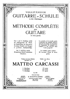 Complete Method for Guitar, Op.59: Movement I by Matteo Carcassi