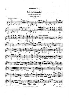 Serenades for Two Guitars, Op.96: Serenade No.1 – parts by Ferdinando Carulli