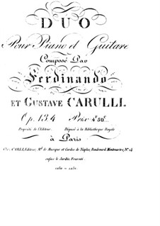 Duet for Guitar and Piano, Op.134: Guitar part by Ferdinando Carulli