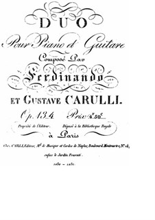 Duet for Guitar and Piano, Op.134: Piano part by Ferdinando Carulli