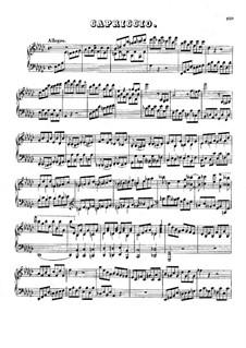 Capriccio in E Flat Minor: Capriccio in E Flat Minor by Johann Nepomuk Hummel