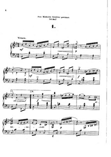 Six Caprices, Op.27: Caprices No.1-3 by Theodor Kirchner