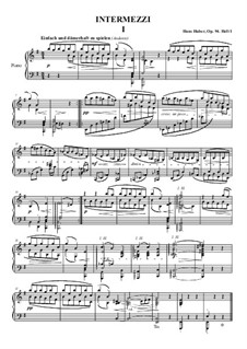 Intermezzi for Piano, Op.94: Complete set by Hans Huber