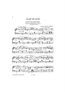 Les Orientales, Op.37: No.1 Clair de lune by Edward MacDowell