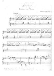 Adieu. Romance without Words for Piano: Adieu. Romance without Words for Piano by Ernesto Nazareth