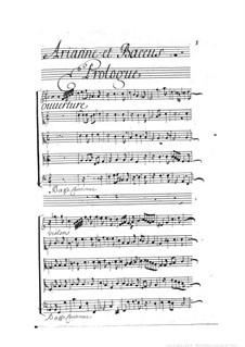 Ariane et Bacchus: Full score by Marin Marais