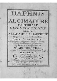 Daphnis et Alcimadure: Prologue by Jean-Joseph Cassanéa de Mondonville