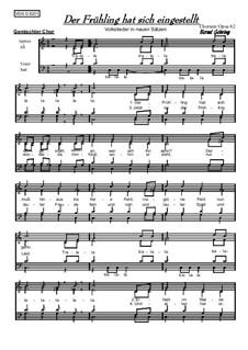 Der Frühling hat sich eingestellt: For mixed choir, Op.82 by folklore
