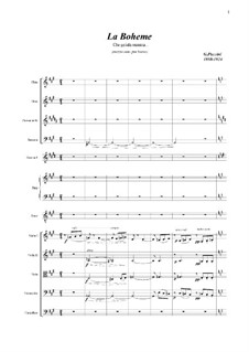 Che gelida manina: Full score and parts by Giacomo Puccini