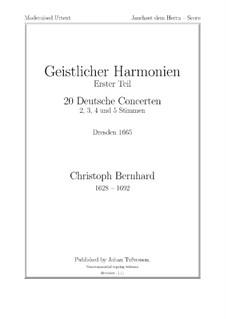 Jauchzet dem Herrn: Jauchzet dem Herrn by Christoph Bernhard