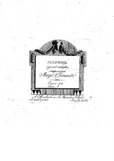 Symphony No.1 in B Flat Major, Op.18: Parts by Muzio Clementi