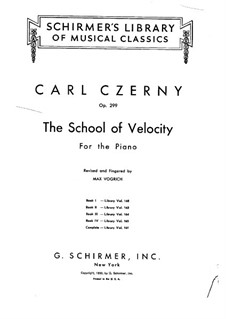 School of Velocity, Op.299: Exercises No.1-5 by Carl Czerny