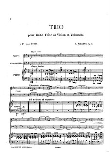 Trio for Flute, Cello and Piano, Op.45: Movement I – full score by Louise Farrenc