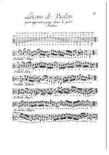 Leçons de violon dans le goût Italien: Leçons de violon dans le goût Italien by Michel Corrette