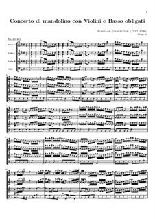 Concerto for Mandolin, Two Violins and Basso Continuo: Full score by Gaspare Gabellone