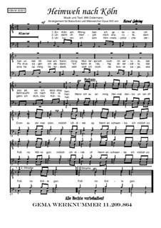 Niederrheinisch: Heimweh nach Köln (Baßsolo + MCH), Op.303: Niederrheinisch: Heimweh nach Köln (Baßsolo + MCH) by Willi Ostermann