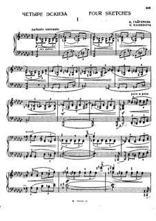Four Sketches for Piano: Four Sketches for Piano by Varvara Gaigerova