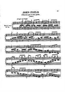 Exercise in A Flat Major for Left Hand: Exercise in A Flat Major for Left Hand by John Field