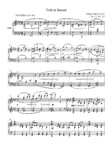 No.10 Told at Sunset: For piano by Edward MacDowell